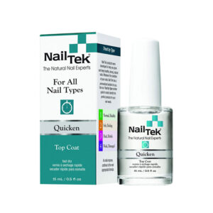 Nail Tek Quicken Fast Drying Top Coat for All Nail Types 15 ml / 0.5 oz